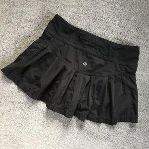 Lululemon Black Pleated Mini Skort